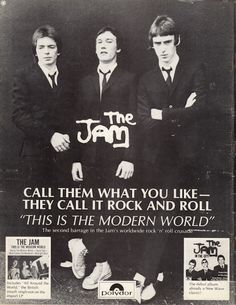 Old-school ads for albums from The Clash, Buzzcocks, Blondie, T.Rex, The Jam and The Style Council, Paul Weller, The Cramps, Rock News, New Wave, British Rock, Concert Posters, Music Posters, Rock Posters
