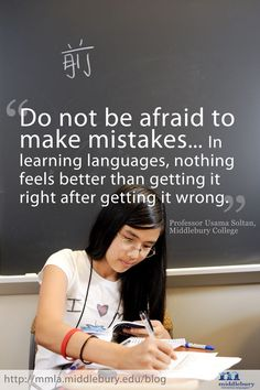 "Language learning tip: ""Do not be afraid to make mistakes!"""
