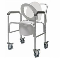 Lumex 2215B2 3in1 Aluminum Commode with Back Bar and Casters ♥ Click the VISIT button to view the details