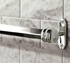 Bathroom Fixtures, Towel Racks & Light Fixtures | Pottery Barn The Covington collection in chrome for bathroom.