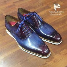 Men's Luxury Shoes by PAUL PARKMAN (Paul Parkman Hand Painted Casual Oxfords...) featuring and polyvore,