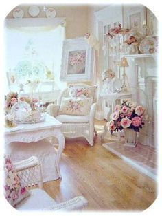 I need a room like this in my place - obsessed with shabby chic! #shabbychicfurniture
