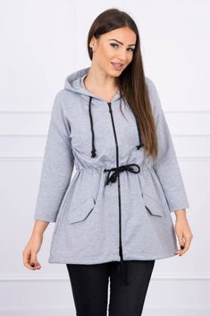 Fashion Addict, Outfit Of The Day, Hooded Jacket, Street Wear, Raincoat, Fashion Dresses, Street Style, Zip, Stylish