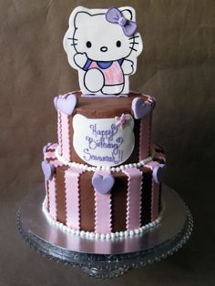 Hello Kitty Cake A Gumpaste Stands On Top Of This Chocolate Lovers Dream