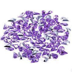 skinner pære formet akryl diamant confetti - satt av 2000 stykker (flere størrelser) – NOK kr. 220