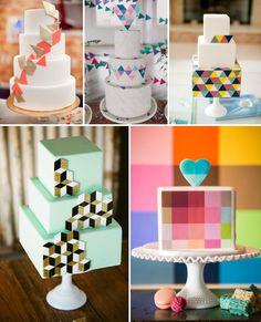 geometric wedding cake round-up