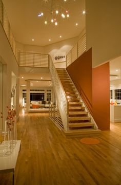A great safety option for an open staircase without closing it off (?)