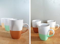 DIY Paint Dipped Mugs - The Merrythought