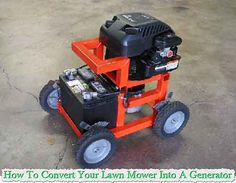 How To Convert Your Lawn Mower Into A Generator   You may not know it, but your lawn mower can be converted into a generator that will provide auxiliary powe
