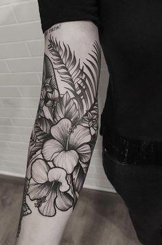 Attropisches eEm nach Londrina im Setembro OUT / SP und NOV / RJ # … - diy tattoo images - Hawaii Flower Tattoos, Tropical Flower Tattoos, Flower Tattoo Back, Flower Sleeve, Flower Tattoo Designs, Back Tattoo, Hawiian Flower Tattoo, Small Tattoo, Mandala Flower Tattoos