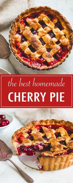 The Best Cherry Pie (With Sweet or Sour Cherries) – Pretty. The Best Cherry Pie (With Sweet or Sour Cherries) – Pretty. Pie Recipes, Dessert Recipes, Cooking Recipes, Desserts, Quiches, Sour Cherry Pie, Sweet Cherry Pie, Homemade Cherry Pies, Recipes
