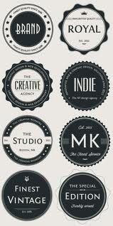 Vintage Logo Badges Set Inspiration for Retromatic Logo Inspiration, Badge Design, Label Design, Photoshop, Logo Rond, Kreis Logo, Logo Branding, Branding Design, Typographie Fonts