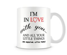 Printed Ceramic Mug One Direction Little Things Lyrics Ideal Cheap Gift