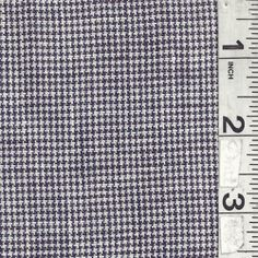 White/Navy/Purple Linen - Fabric By The Yard