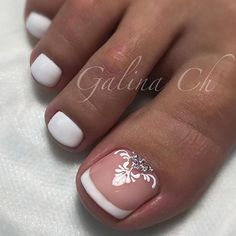 Image result for french tips pedicure. bridal.