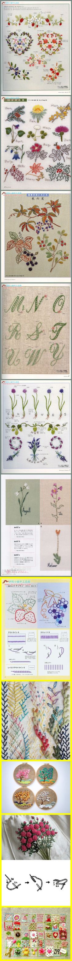 needle work:  take inspiration from the embroidery.... lovely shapes