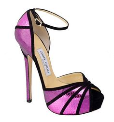 Jimmy Choo Kalpa Orchid Metallic Sandals Spring 2013