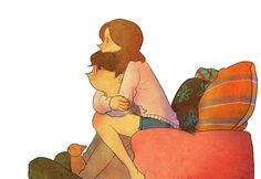 Cute Illustrations To Show What Love Is Like In Everyday Life
