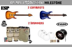 """We are giving all this away! To enter to win go to http://Facebook/DpsMusic    Prizes: 1 ESP LTD H51 EB Electric Guitar  1 ESP LTD H-101FM ASB Electric Guitar   1 Set of Evans Drum heads for your Drum Set  12 Pack of Pro-Mark Sticks  1 Inked by Evans Custom Bass Head  1 LP Rumba Natural 10"""" Quinto  1 LP Rumba Natural 11"""" Conga  2 Rumba Gig Bags  2 Sets of Conga Feet  1 Introduction to Hand Drums DVD"""