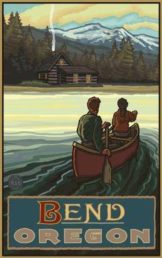 Northwest Art Mall Bend Oregon Lake Canoers Mountains Unframed Prints by Paul A Lanquist, 11-Inch by 17-Inch Northwest Art Mall http://www.amazon.com/dp/B00CQL0YWK/ref=cm_sw_r_pi_dp_qWh3tb0WZKXRDHFA