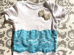 Tiffany Blue Onesie,Tiffany Blue Newborn,Lace Onesie,Newborn Photo Prop,Shabby Chic Onesie,Take Home Outfit,Chic Little Tee,Blue Bodysuit on Etsy, $22.00