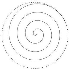 Spiral pattern for machine quilting by sophia
