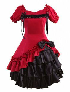 M4U Womens Sweet Dark Red And Black Cotton Gothic Lolita Dress M4U Online Shopping to see or buy click on Amazon here http://www.amazon.com/dp/B00CAPI66I/ref=cm_sw_r_pi_dp_cQ-Ltb0RF3TH8XMP