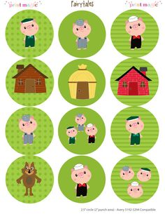 Three Little Pigs Mini Printable Party Kit with Editable Text