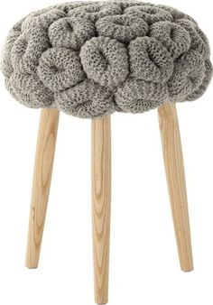 Knitted Rings Grey Stool Craft, innovation, warmth, happiness… Claire-Anne'sstools have everything we like. Features: Knitted Collection Designed by Claire-Anne O'Brien Not for outdoor use Stool type Cleaning Car Upholstery, Upholstery Repair, Upholstery Cushions, Upholstery Nails, Upholstery Cleaner, Furniture Upholstery, Knit Pillow, Tapestry Fabric, Arm Knitting