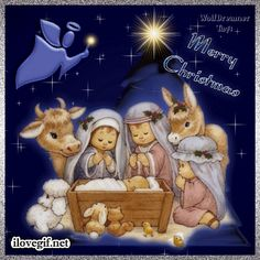 Merry Christmas GIF by Hallmark eCards Find Share on GIPHY. Merry Christmas Blessings From Jesus Gif Christian Memes. Merry Christmas Jesus, Christmas Nativity Scene, Christmas Blessings, Christmas Scenes, Noel Christmas, Christmas Pictures, Christmas Greetings, Celebrating Christmas, Christmas Chocolate