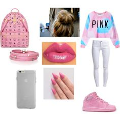 PINK by ohhthatskamm on Polyvore featuring polyvore, fashion, style, ONLY, MCM, Sif Jakobs Jewellery and Case-Mate