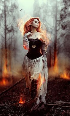 Fire costume, but the ash part of the outfit will be more elaborate along with her makeup.