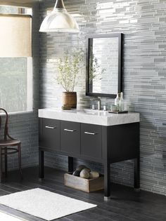 Calabria vanity from Ronbow's Contempo Collection