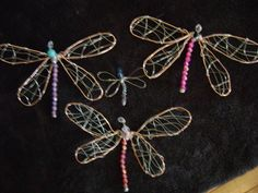 How to make wire dragonflies