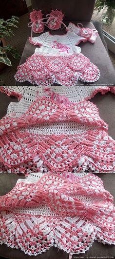 my last job. Crochet Girls, Crochet Baby Clothes, Newborn Crochet, Crochet For Kids, Knit Crochet, Crochet Stitches Patterns, Crochet Designs, Rainbow Crochet, Beautiful Crochet