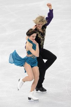 Meryl Davis and Charlie White two of the best ice skater ever. Skating together ever sine they were little!