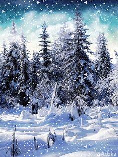 Картинки анимашки зимние под новый год