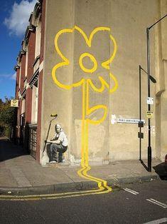 "Banksy: The ""Biography"" of a Graffiti Street Art Legend Street Art Banksy, Banksy Graffiti, Banksy Work, Bansky, Graffiti Wall, Banksy Canvas, Banksy Stencil, Stencil Art, Stencil Street Art"