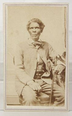 1860s AFRICAN AMERICAN EX SLAVE CIVIL WAR CDV PHOTO - HE HELPED UNION POW's