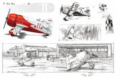 Gee Bee via Speedbirds. Airplane Art, Aviation Art, Women In History, Ancient History, Automotive Design, Dieselpunk, Caricatures, Traditional Art, Book Art