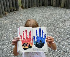 This page is for handprints or fingerprints, get them dirty then press down.
