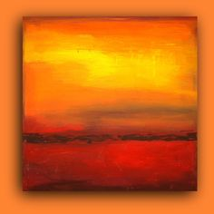 bright bold sunset paintings   ABSTRACT Acrylic Abstract Painting Fine Art Textured Modern Painting ...