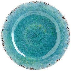Carmelo Melamine Salad Plate - Aqua