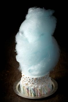 Candy floss topped cake