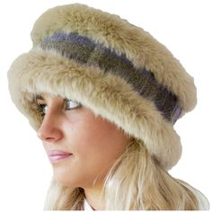 Show details for Annabel Brocks Head Warmers - Beige Fur/Blue Green Tweed Riding Hats, Tweed, Faux Fur, Blue Green, Fur Coat, Winter Hats, Color, Clothes, Beige