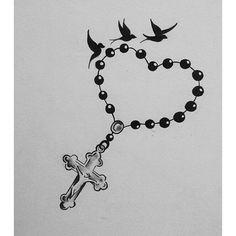 rosary tattoo design ~ rosary tattoo design + rosary tattoo design for men + rosary tattoo design drawing + rosary tattoo design ideas + rosary tattoo design art Roseary Tattoo, Hand Tattoos, Flower Wrist Tattoos, Body Art Tattoos, Clock Tattoo Design, Cross Tattoo Designs, Heart Tattoo Designs, Tattoo Design Drawings, Rosary Tattoo On Hand