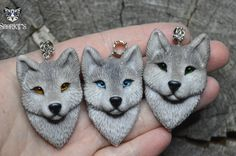 Вот вам еще моих зверей) Ручная работа из полимерной глины волк, дракон, собака, кит, енот, кулон, ручная работа, полимерная глина, длиннопост