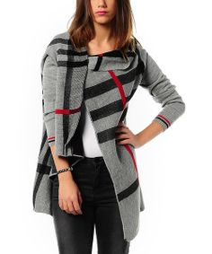 Posh up a look with this sensually draped cardigan. The elegantly swathed fabric and stately stripes bring leisurely luxury to this piece, while the easy entry opening and single button along the collarbone offer simplistic finishes.100% acrylicHand washImported