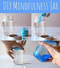 Calm your thoughts with this DIY mindfulness jar.