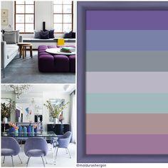 Purple Haze es una paleta más fría que Quietude pero igual de serena y equilibrada, se perfila como una mezcla ganadora para los espacios urbanos del 2018. Conoce cómo aplicar el Pantone del año en interiorismo en nuestro Blog.